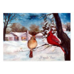 Winters Serenity Cardinal Art Card Large Business Card