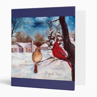 Winters Serenity Cardinal Binder