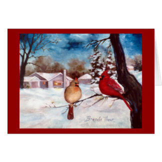 Winters Serenity Cardinal Holiday Card