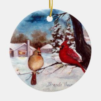 Winters Serenity Cardinal Ornament