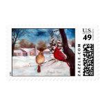 Winters Serenity Cardinal Postage