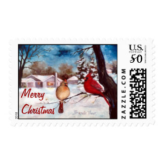 Winters Serenity Christmas Postage Stamps