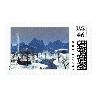 Winters Serenity Postage Stamps