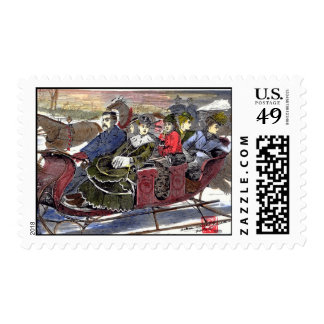 Winter's Sleigh Ride Stamps
