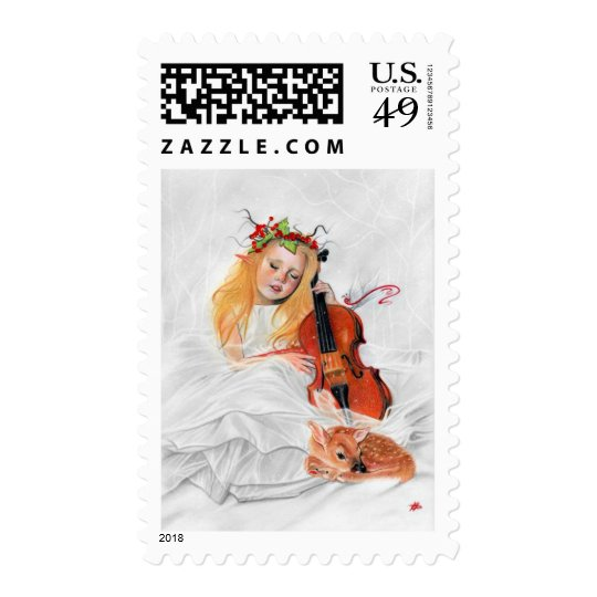 Winters song Elven princess post stamp