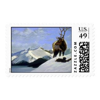 Winter's sun, Elk Postage Stamp