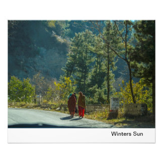 Winters Sun in Pakistan Photo Print