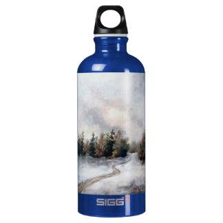 Winters Sunset Aluminum Water Bottle