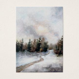 Winter's Sunset Art Card