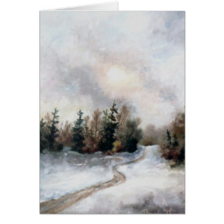 Winters Sunset Blank Card