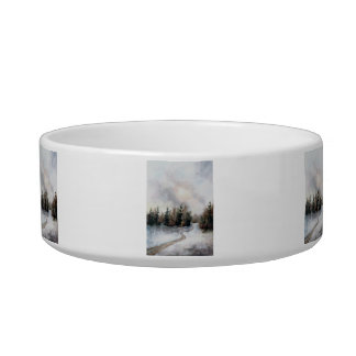 Winters Sunset Cat Water Bowls
