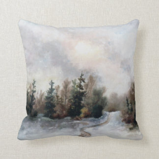 Winters Sunset Throw Pillow