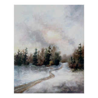 Winters Sunset Poster Print