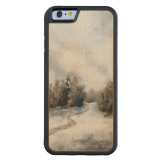 Winter's Sunset Carved® Maple iPhone 6 Bumper