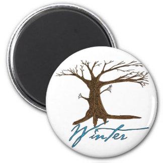Winter's tree magnet