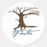 Winter's tree sticker
