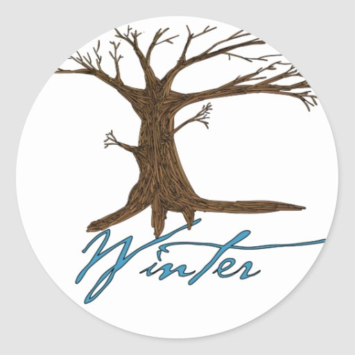 Winter's tree stickers