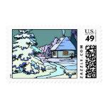 Winterscape Postage Stamp