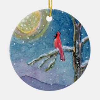 Winterscene Cardinals Ornaments