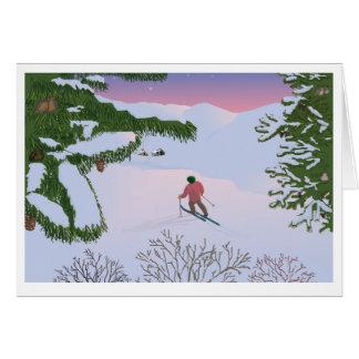 winterscene greeting card