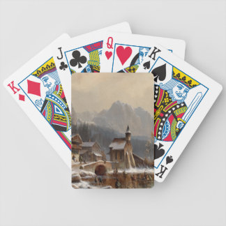 Wintertime Bicycle Playing Cards