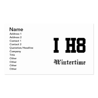 wintertime business card