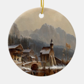 Wintertime Ceramic Ornament