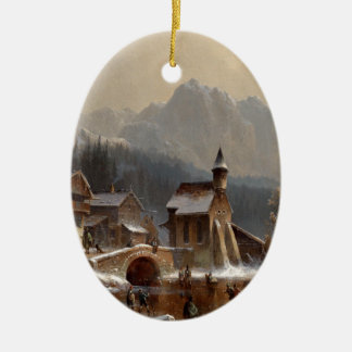 Wintertime Ceramic Ornament