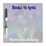 Wintertime Reading Books to Read Dry Erase Board
