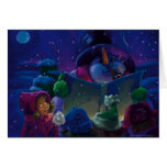 Wintertime Reading Snowman Greeting Card
