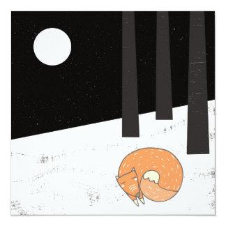 Wintertime- Sleeping Fox - Illustration Card