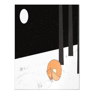 Wintertime- Sleeping Fox - Illustration Magnetic Card