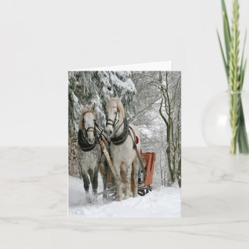 Wintertime Sleigh Ride Holiday Card