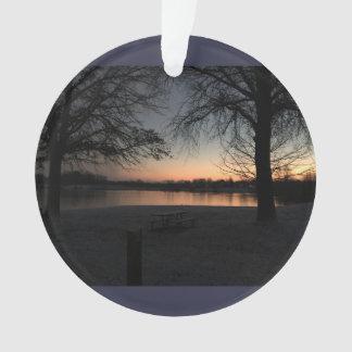 Wintertime Sunset at Core Creek Ornament