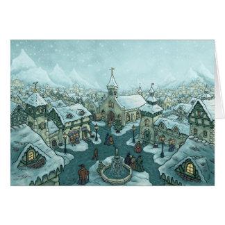 wintertown greetingcard greeting cards