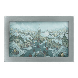 wintertown holiday belt buckle