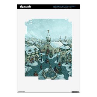 wintertown holiday iPad skin