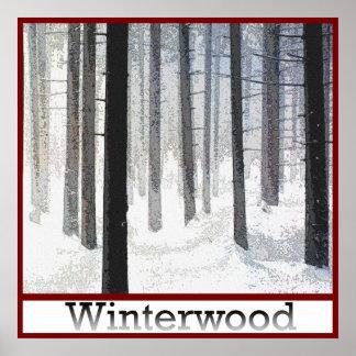 Winterwood Woodlot Poster
