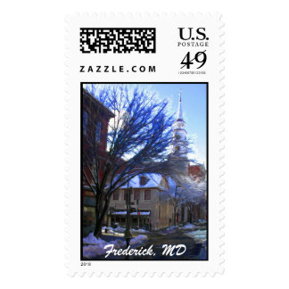 Wintery Blend of Chocolate to the Left & Burgers t Postage Stamps