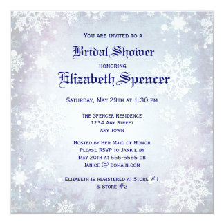 Wintery Blue Bridal Shower Invitation