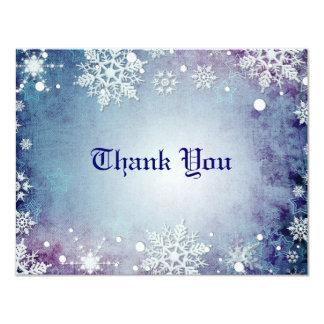 Wintery Blue Thank You Card Custom Invites