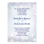 Wintery Blue Wedding Invitation