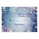 Wintery Blue Wedding Place Cards Business Card Template