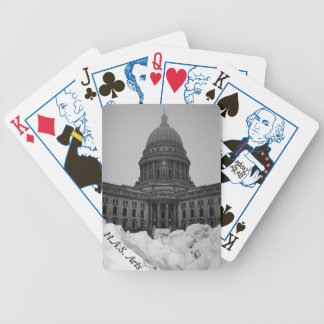 Wintery Capitol playing cards, election edition Bicycle Playing Cards