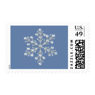 Wintery Crystal Snowflake Stamp