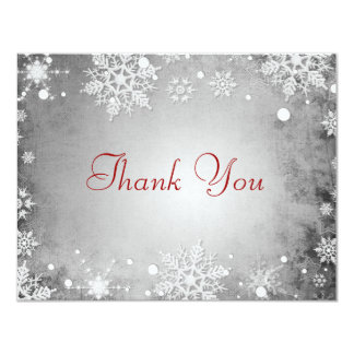 Wintery Grey Thank You Card