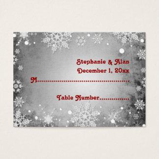 Wintery Grey Wedding Place Cards