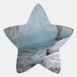 Wintery ice and snow - Glacier River Sticker