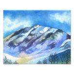 Wintery Mountain - Landscape Art Print Photo Art