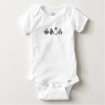 Wintery Penguins Baby Romper